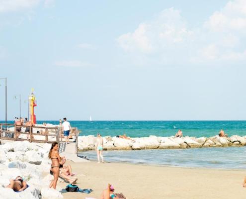 Spiaggia Cesenatico di giorno